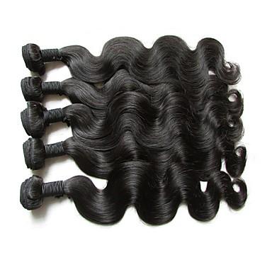 """povoljno Ekstenzije od ljudske kose-5 paketića Brazilska kosa Tijelo Wave Virgin kosa Netretirana  ljudske kose Ljudske kose plete 10""""~28"""" Natural Isprepliće ljudske kose Prirodno Najbolja kvaliteta Za crnkinje Proširenja ljudske kose"""
