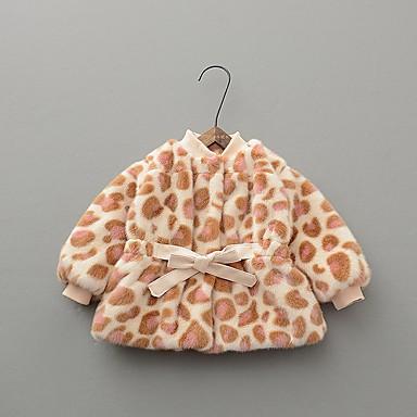 povoljno Odjeća za bebe-Dijete Djevojčice Ulični šik Leopard Pernata i pamučna podstava Blushing Pink