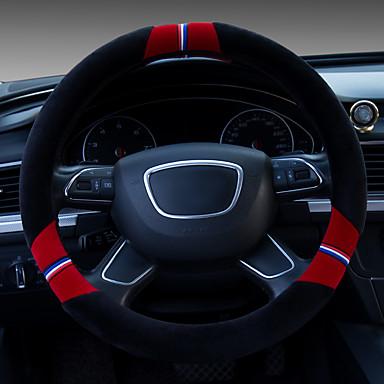 billige Interiørtilbehør til bilen-vinter bil ratt sett kort plysj satt sett menn og kvinner generelt varm antiskli nye imitasjon ull bil sett