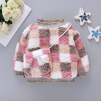 preiswerte Kapuzenpullover & Sweatshirts für Babys-Baby Mädchen Grundlegend Einfarbig Langarm Kapuzenpullover Rosa