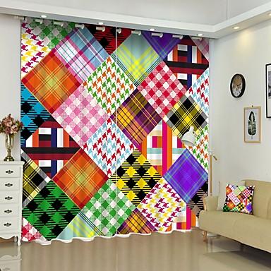 színes patchwork stílusú digitális nyomtatás 3d függöny árnyékoló függöny nagy pontosságú fekete selyem anyagból kiváló minőségű függöny