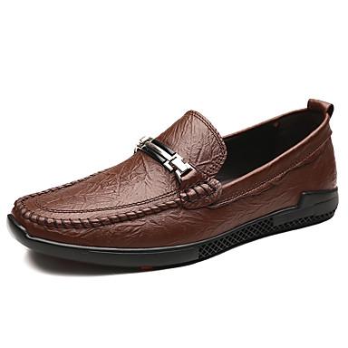 Férfi Bőr cipők Nappa Leather Tavasz / Ősz Alkalmi / Brit Papucsok & Balerinacipők Gyalogló Csúszásmentes Fekete / Barna