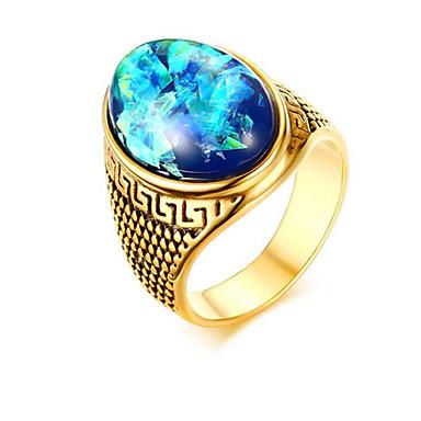 voordelige Herensieraden-Heren Ring Synthetische Sapphire 1pc Goud Roestvast staal Onregelmatig Modieus Feest Dagelijks Sieraden Klassiek Ster Cool