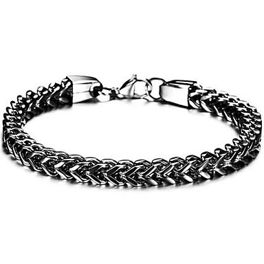 voordelige Herensieraden-Heren Wide Bangle Retro Kruis Punk Titanium Staal Armband sieraden Zwart / Goud / Zilver Voor Dagelijks