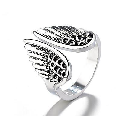 levne Pánské šperky-Pánské Otevřete kruh Nastavitelný kroužek 1ks Stříbrná Měď Postříbřené Geometric Shape Vintage Módní Denní Práce Šperky Retro styl Drahocenný Cool