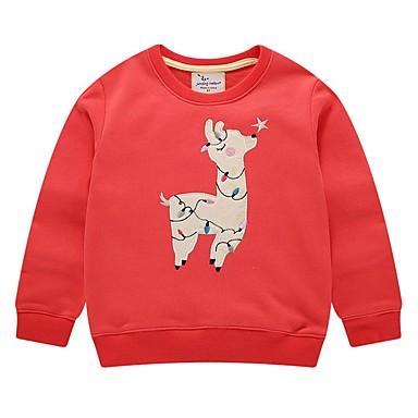 preiswerte Kapuzenpullover & Sweatshirts für Babys-Baby Mädchen Grundlegend Druck / Weihnachten Langarm Kapuzenpullover Rote