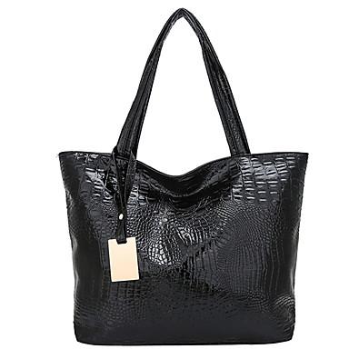 cheap Handbag & Totes-Women's Bags Cowhide Tote Zipper for Daily Black / Gold / Silver