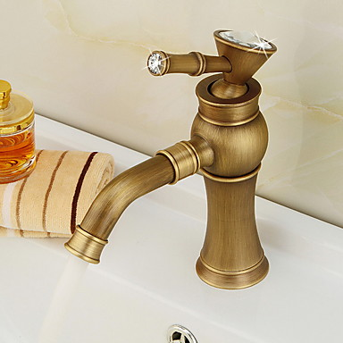 Fürdőszoba mosogató csaptelep - Széleskörű Galvanizált Szabadon álló Egy fogantyú egy lyukkalBath Taps