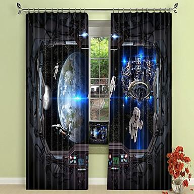jövő technológiája és űrhajósai digitális nyomtatás 3d függöny árnyékoló függöny nagy pontosságú fekete selyem anyagból kiváló minőségű függöny