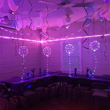 cheap Holiday & Party Decorations-6Pcs LED Luminous Led Balloon Transparent Round Bubble Decoration Birthday Party Wedding Decor LED Balloons Christmas Gift