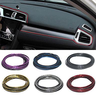 cheap DIY Car Interiors-5M Car styling Universal DIY Automobile Car Motor Dashboard Decor Plated Moulding Trim Strip Protection Strip Scratch Protector