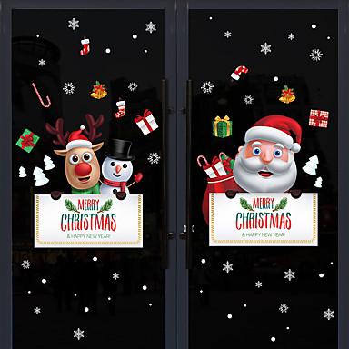 Ablakfólia és matricák Dekoráció Mintás / Karácsony Ünneő / Karakter PVC Ablak matrica / Autocolant Ușă / Imádni való