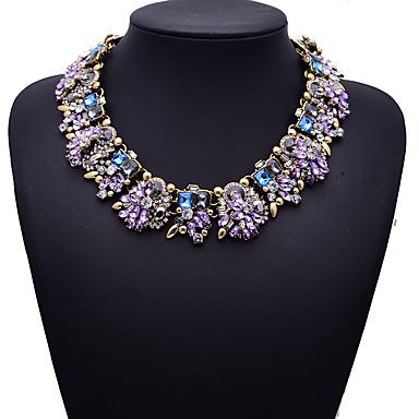 povoljno Modne ogrlice-Kubični Zirconia Ogrlica Cvijet zdepast Boja Kubični Zirconia Crn purpurna boja Bijela Crvena Plava Ogrlice Jewelry Za Vjenčanje Party Special Occasion godišnjica Rođendan Zabava / večer / Žene