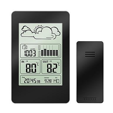 többfunkciós vezeték nélküli meteorológiai állomás óra lcd digitális hőmérő higrométer