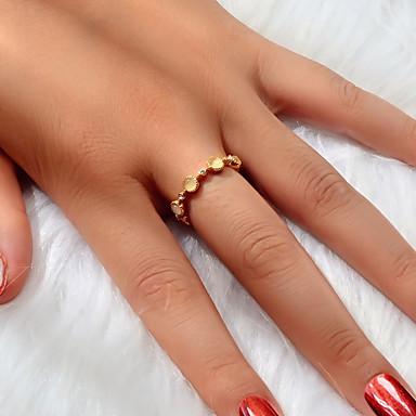 billige Motering-Dame Ring Åpne Ring 1pc Gull Akryl Legering Enkel Klassisk Europeisk Engasjement Gave Smykker geometriske Kjærlighed Dyrebar Søtt Kul Smuk