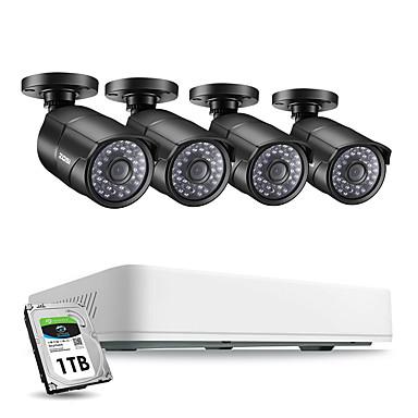 povoljno Zaštita i sigurnost-zosi 4ch h.265 hd 5.0mp sigurnosni sustav kamera s 4 x 5mp hd vanjskim / zatvorenim cctv kamerama za nadzor