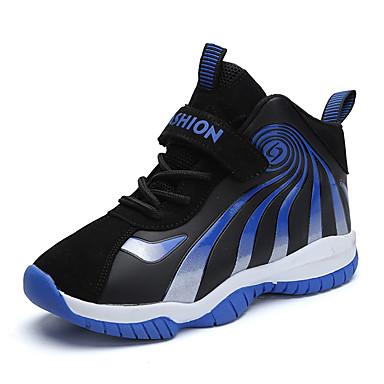 preiswerte Schuhe für Kinder-Jungen Komfort PU Sportschuhe Große Kinder (ab 7 Jahren) Basketball Schwarz / Blau Herbst / Einfarbig