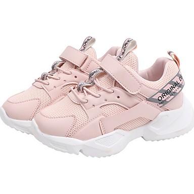 preiswerte Schuhe für Kinder-Jungen Komfort Gitter Sportschuhe Kleine Kinder (4-7 Jahre) Rennen Schwarz / Weiß / Rosa Herbst