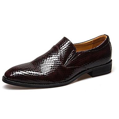 Férfi Formális cipők PU Ősz Papucsok & Balerinacipők Fekete / Barna