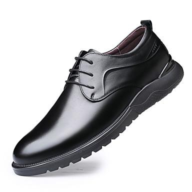 Férfi Bőr cipők Nappa Leather Tavasz / Ősz & tél Alkalmi Félcipők Gyalogló Légáteresztő Fekete / Barna