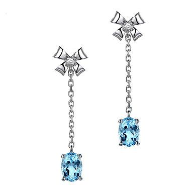 levne Dámské šperky-moonrocy stříbrná barva křišťálové náušnice viset fialová zelená dlouhá modrá náušnice pro ženy dárkové šperky šperky velkoobchod bowknot