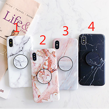 cheap iPhone Cases-Case For Apple iPhone 11 / iPhone 11 Pro / iPhone 11 Pro Max with Stand / IMD / Frosted Back Cover Marble TPU