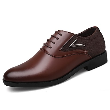 cheap Men's Shoes-Men's Comfort Shoes PU Fall & Winter Oxfords Black / Brown