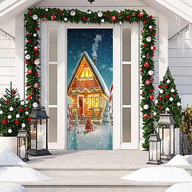 Dekoratív falmatricák - Nyaralás falimatrica Karácsony Otthoni