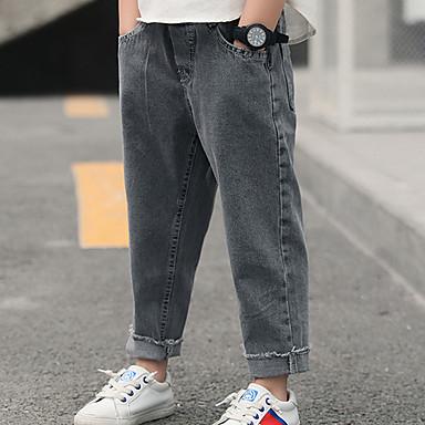 preiswerte Jeanshosen für Jungen-Kinder Jungen Grundlegend Street Schick Druck Druck Jeans Leicht Blau