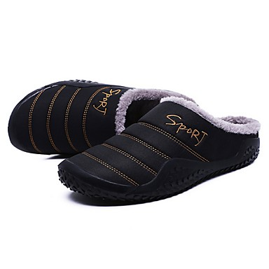 cheap Slippers-Men's Slippers House Slippers Casual Terry Shoes