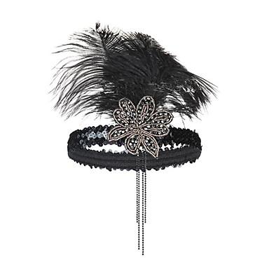 levne Dámské šperky-Dámské Módní Peří Plastický Kubický zirkon Čelenky Kroužky na vlasy Párty Halloween