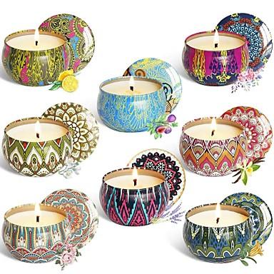 8pcs / set mirisna svijeća poklon set prirodna biljka vosak bez dima set bez svijeća aromaterapija set svijeća