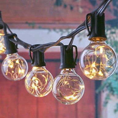 6.8m Fényfüzérek 25 LED Meleg fehér Karácsony Dekoratív 220-240 V 1set