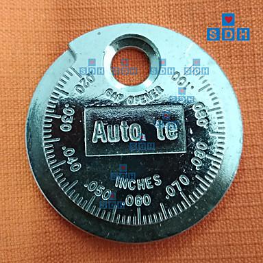 levne Testovací, měřící a kontrolní vybavení-1pc nástroj pro měření mezery zapalovací svíčky, měřící typ mince 0,6-2,4 mm, měřič zapalovací svíčky