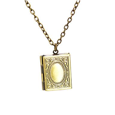 levne Pánské šperky-Pánské Dámské Náušnice Náhrdelník Klasika krabice Klasické Vintage Měď Starožitný bronz 50 cm Náhrdelníky Šperky 1ks Pro Denní Street