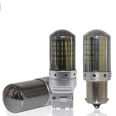 2stk canbus t20 led 7440 w21w 1156 p21w led ba15s py21w bau15s 144smd bil led pærer lampe for blinklys bremselys ingen feil