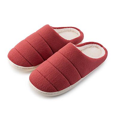 preiswerte Schuhe und Taschen-Damen Slippers & Flip-Flops Flacher Absatz Runde Zehe Polyester / Mikrofaser Herbst Winter Wein / Gelb / Rosa