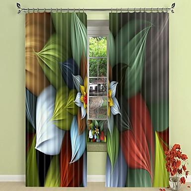 virágok színes nyomtatása színes pigmentekkel 3d függöny árnyékoló függöny nagy pontosságú fekete selyem anyagból kiváló minőségű függöny