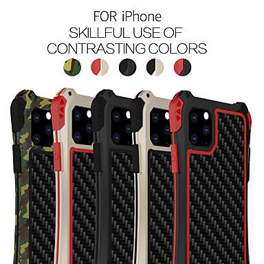 povoljno iPhone maske-Θήκη Za Apple iPhone 11 / iPhone 11 Pro / iPhone 11 Pro Max Otporno na trešnju Stražnja maska Jednobojni silika gel / Aluminij