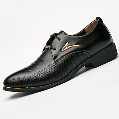cheap Printed Shoes-Men's Formal Shoes Synthetics Spring / Fall & Winter Casual / British Oxfords Non-slipping Black / Brown
