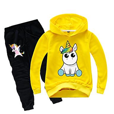 preiswerte Mode für Jungen-Kinder Baby Jungen Grundlegend Druck Druck Langarm Standard Standard Kleidungs Set Schwarz