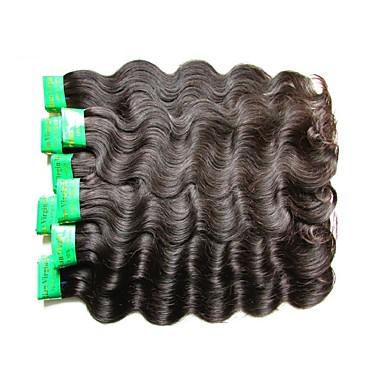 """povoljno Ekstenzije od ljudske kose-4 paketića 6 paketića Indijska kosa Tijelo Wave Virgin kosa Netretirana  ljudske kose Ljudske kose plete 10""""~30"""" Natural Isprepliće ljudske kose Prirodno Najbolja kvaliteta Za crnkinje Proširenja"""