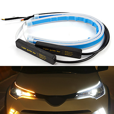cheap New Arrivals-2pcs Wire Connection Motorcycle / Car Light Bulbs SMD 2835 LED Daytime Running Lights / Turn Signal Lights / Decoration Lights For universal