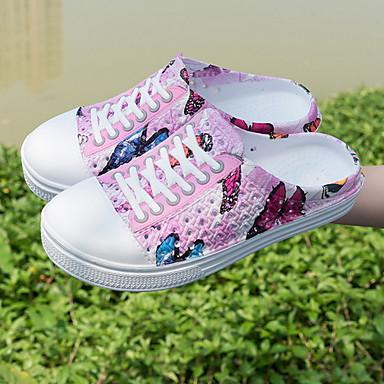 voordelige Damespantoffels & slippers-Dames Slippers & Flip-Flops Platte hak Ronde Teen EVA Zomer Paars / Blauw / Roze