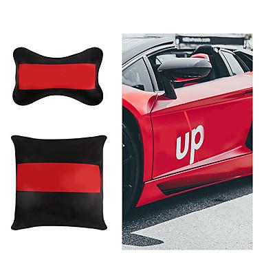 billige Automotiv-personlig bil nakkestøtte skinn populær logo pp bomulls halspute og midjepute sett