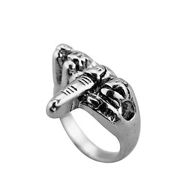 levne Pánské šperky-Pánské Prsten 1ks Stříbrná Titanová ocel Kulatý Casual / Sportovní Denní Šperky Retro styl Kytky Půvab
