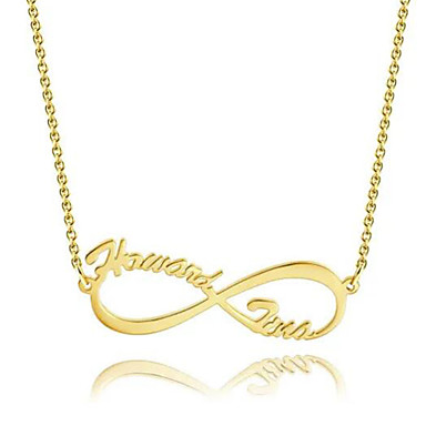 cheap Engraved Necklaces-Personalized Customized Necklace Name Necklace Gift Daily Holiday irregular 1pcs Gold / Laser Engraving