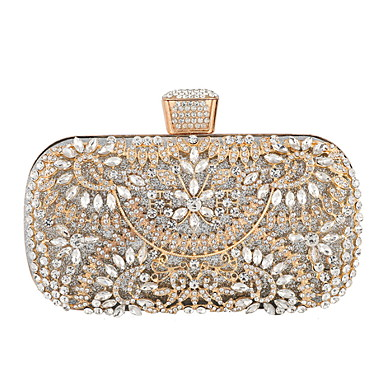 cheap Clutches & Evening Bags-Women's Chain PU Evening Bag Black / Gold / Silver