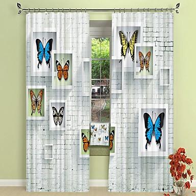 pillangó minta digitális nyomtatás 3d függöny árnyékoló függöny nagy pontosságú fekete selyem anyagból kiváló minőségű függöny
