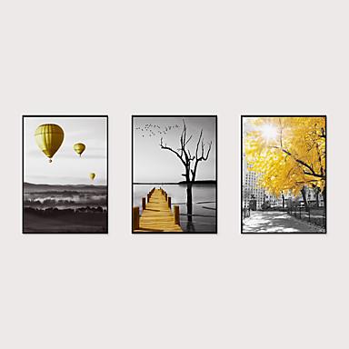 cheap Framed Arts-Framed Art Print Framed Set - Abstract Landscape PS Poster Wall Art